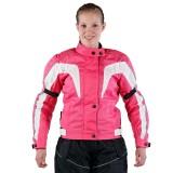 Damen Motoradjacke Textil pink
