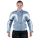 Damen Motorradjacke Textil hellblau