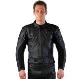 Motorradlederjacke schwarz