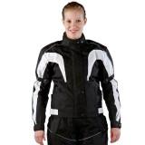 Damen Motorradjacke Textil schwarz
