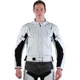 Motorradlederjacke weiß