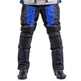 Textil Motorradhose schwarz - blau