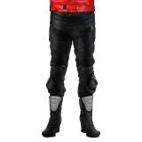 Leder Motorradhose schwarz
